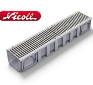 کانال پیش ساخته با گریل PVC مدل CAN188+GRL88